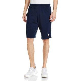 Adidas Navy Blue Polyester Shorts
