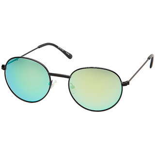 Fastrack Oval Mirrored Sunglasses Black-Green