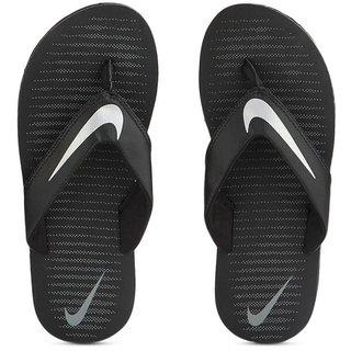 Nike Thong Black-Silver Thong Flip Flop