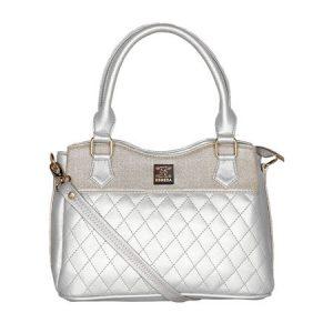 Esbeda Silver handbag Quilted