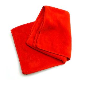 Microfiber cleaning cloth red