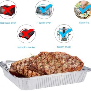 250 ml disposable aluminium takeaway containers